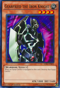 YuGiOh! TCG karta: Gearfried the Iron Knight
