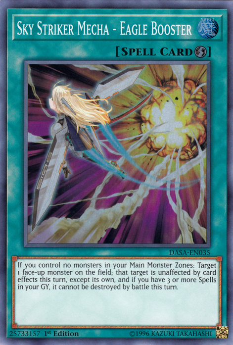 Sky Striker Mecha - Eagle Booster | Yu-Gi-Oh! | FANDOM