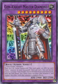 YuGiOh! TCG karta: Gem-Knight Master Diamond
