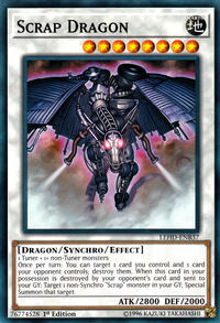 YuGiOh! TCG karta: Scrap Dragon