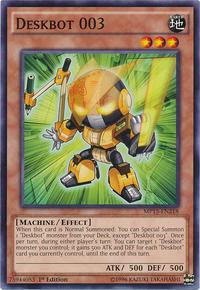 YuGiOh! TCG karta: Deskbot 003