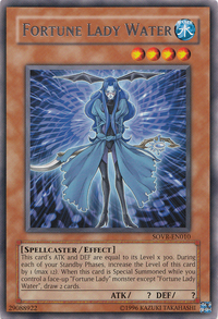 YuGiOh! TCG karta: Fortune Lady Water