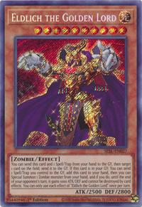 YuGiOh! TCG karta: Eldlich the Golden Lord