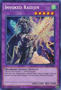 YuGiOh! TCG karta: Invoked Raidjin
