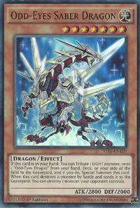 YuGiOh! TCG karta: Odd-Eyes Saber Dragon
