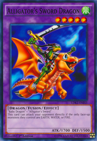 YuGiOh! TCG karta: Alligators Sword Dragon