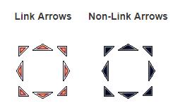 Flecha Link aparência