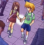 Young Shizuka and Jonouchi