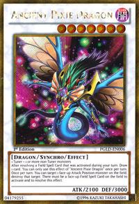YuGiOh! TCG karta: Ancient Pixie Dragon