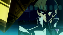 Kaiba observing the near-complete puzzle