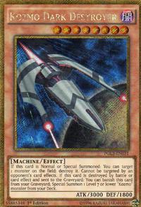 YuGiOh! TCG karta: Kozmo Dark Destroyer