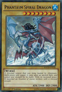 YuGiOh! TCG karta: Phantasm Spiral Dragon