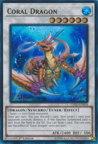 YuGiOh! TCG karta: Coral Dragon