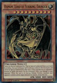 YuGiOh! TCG karta: Hamon, Lord of Striking Thunder