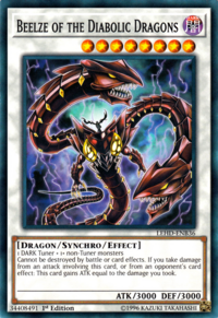 YuGiOh! TCG karta: Beelze of the Diabolic Dragons