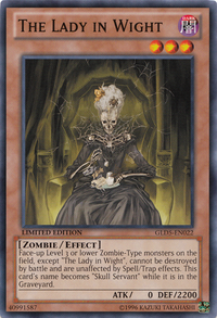 YuGiOh! TCG karta: The Lady in Wight