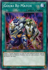 YuGiOh! TCG karta: Gouki Re-Match