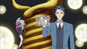 Akira activates a program