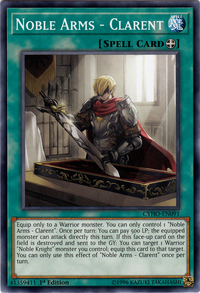 YuGiOh! TCG karta: Noble Arms - Clarent