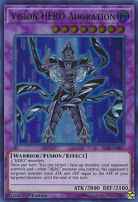 YuGiOh! TCG karta: Vision HERO Adoration