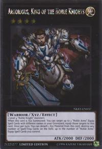 YuGiOh! TCG karta: Artorigus, King of the Noble Knights