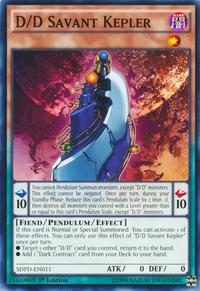 YuGiOh! TCG karta: D/D Savant Kepler