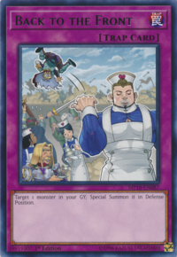 YuGiOh! TCG karta: Back to the Front