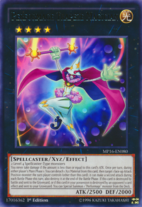 YuGiOh! TCG karta: Performage Trapeze Magician