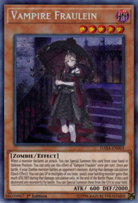 YuGiOh! TCG karta: Vampire Fraulein
