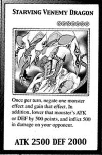 YuGiOh! TCG karta: Starving Venemy Dragon