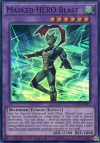 YuGiOh! TCG karta: Masked HERO Blast