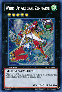 YuGiOh! TCG karta: Wind-Up Arsenal Zenmaioh