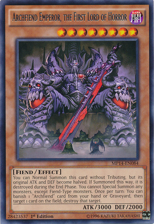 Archfiend Emperor The First Lord Of Horror Yu Gi Oh