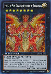 YuGiOh! TCG karta: Hieratic Sun Dragon Overlord of Heliopolis