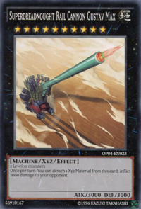 YuGiOh! TCG karta: Superdreadnought Rail Cannon Gustav Max