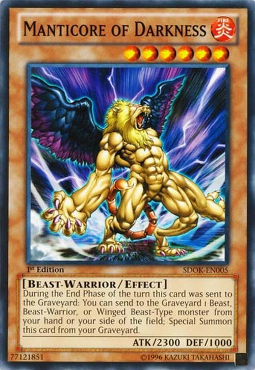 Manticore of Darkness - Baza Kart Yu-Gi-Oh! - YuGiOh pl