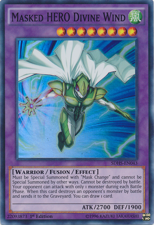 Masked Hero Divine Wind Yu Gi Oh Fandom Powered By Wikia