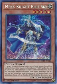 YuGiOh! TCG karta: Mekk-Knight Blue Sky