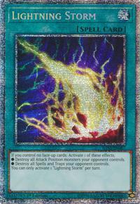 YuGiOh! TCG karta: Lightning Storm