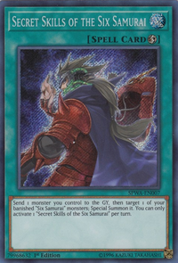 YuGiOh! TCG karta: Secret Skills of the Six Samurai