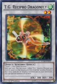 YuGiOh! TCG karta: T.G. Recipro Dragonfly