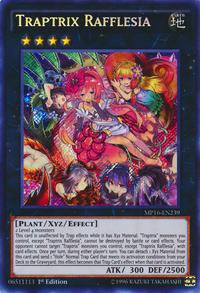 YuGiOh! TCG karta: Traptrix Rafflesia
