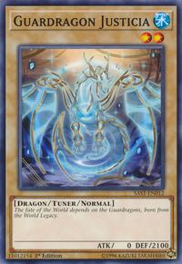 YuGiOh! TCG karta: Guardragon Justicia