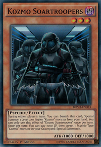 YuGiOh! TCG karta: Kozmo Soartroopers