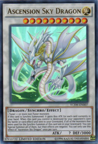 YuGiOh! TCG karta: Ascension Sky Dragon