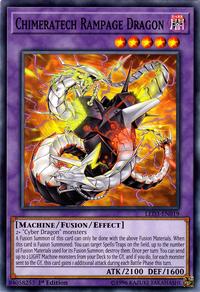 YuGiOh! TCG karta: Chimeratech Rampage Dragon