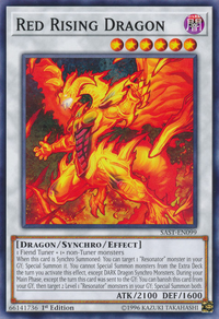 YuGiOh! TCG karta: Red Rising Dragon