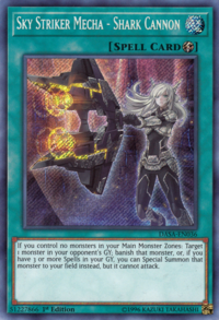 YuGiOh! TCG karta: Sky Striker Mecha - Shark Cannon