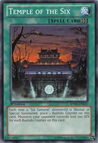 YuGiOh! TCG karta: Temple of the Six