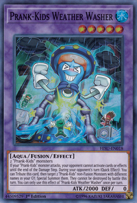 YuGiOh! TCG karta: Prank-Kids Weather Washer